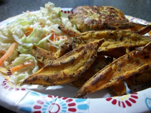 Herbes de Provence Sweet Potato Steak Fries