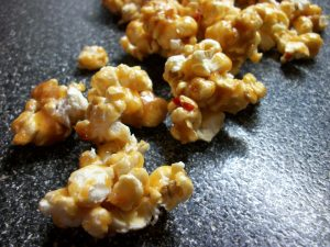 Maple Peanut Butter Sambal Caramel Popcorn