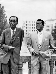 Toshiro Mifune and Akira Kurosawa
