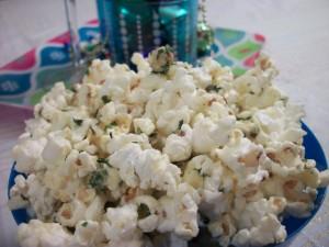 Warm Parmesan Popcorn