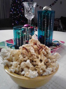 Blue Cheese and Toasted Almond Popcorn